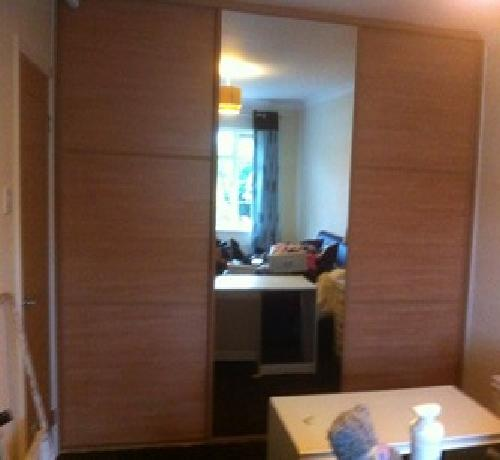 2 Door classic beige mirror 1200-2000mm