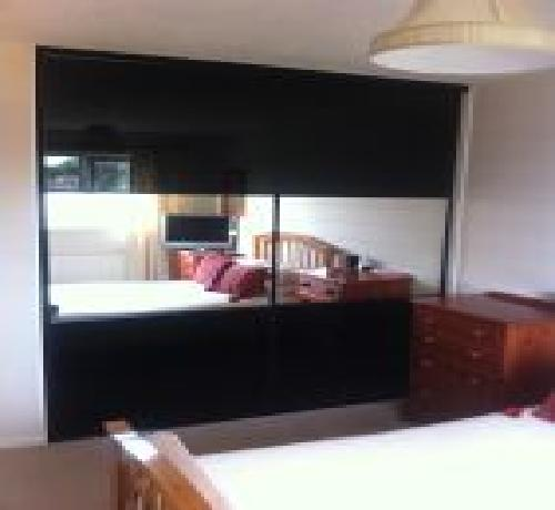 2 door oriental black mirror 1200-2000mm